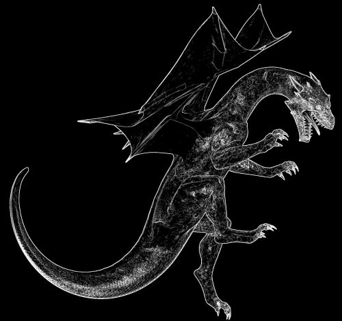 Outlined Dragon