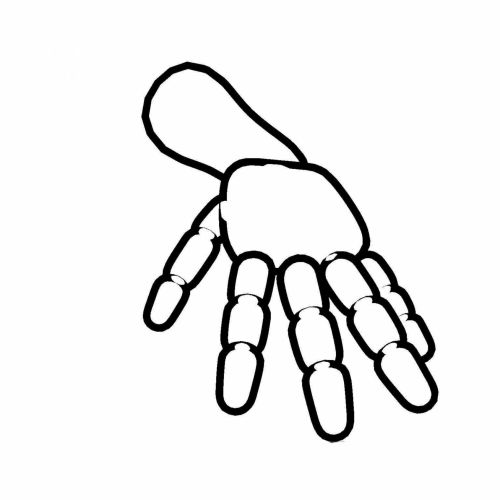 Outlined Hand