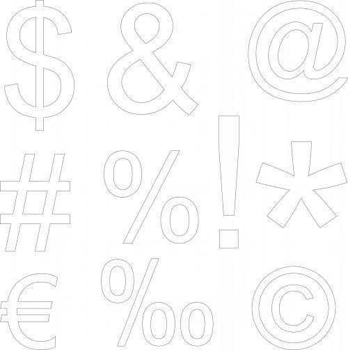 klaviatūra, simboliai, juoda, nurodyta, balta, fonas, izoliuotas, apibūdinti simboliai