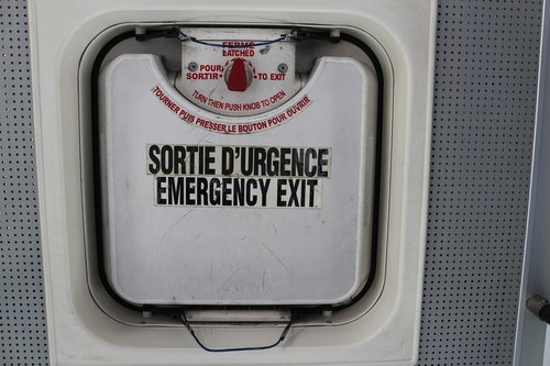 output  emergency  emergency exit