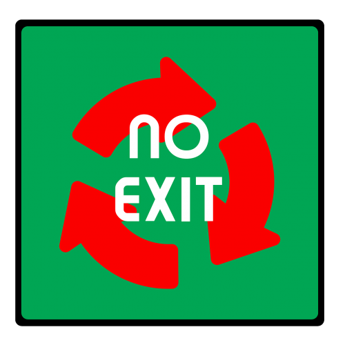 output emergency exit district