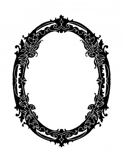 Oval Frame Decorative Clipart