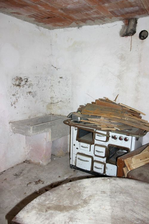 oven stove old furnace