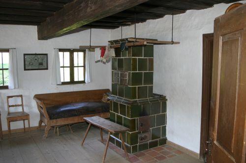 oven tiled stove farmhouse