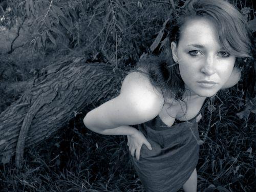 overhead model woman