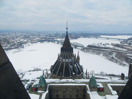overlook winter snow