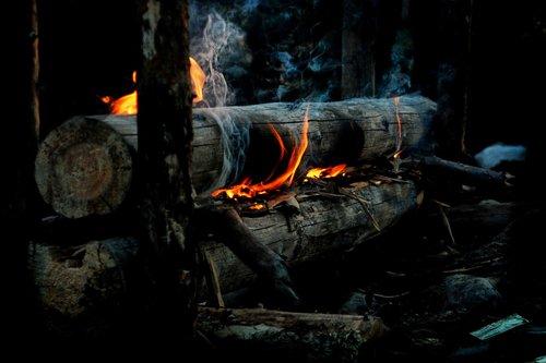 overnight campfire  campfire  fire