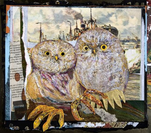 owl paperwork art