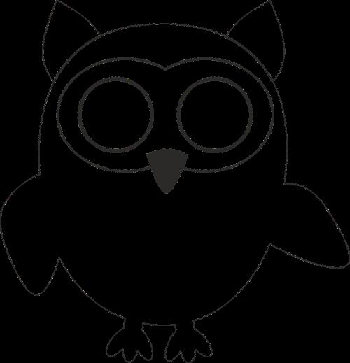 owl template stylized