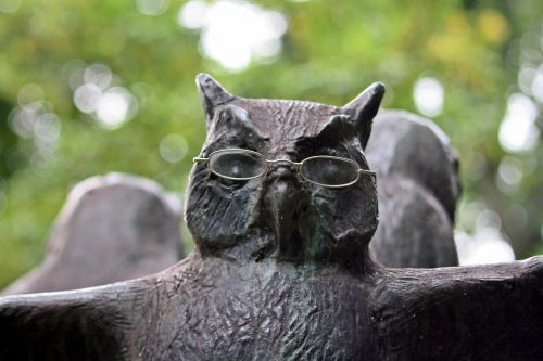 owl sculpture walk in the park