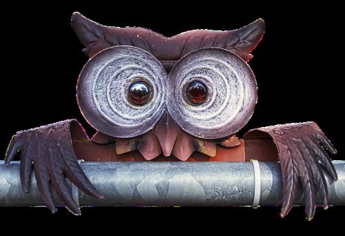 owl metal figure art object