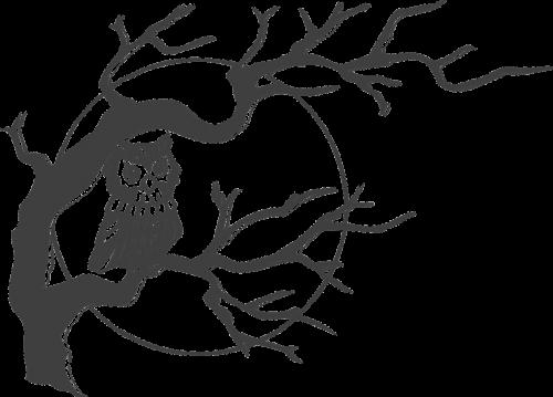 pelėdos,medis,mėnulis,naktis,peizažas,nemokama vektorinė grafika