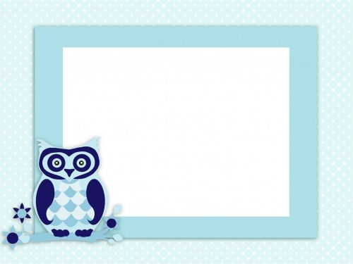 owl invitation card
