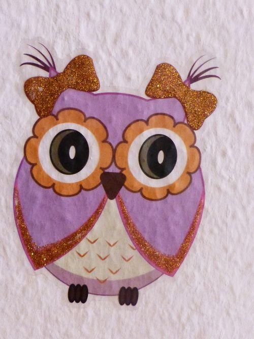 owl tattoo wandtattoo