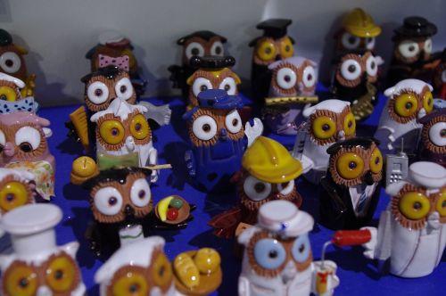 owl porcelain figurines