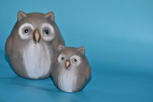 owls ceramic figure