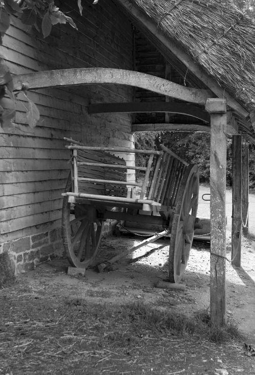 ox cart timber construction shelter