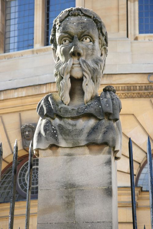 Oxford England Statue Bust