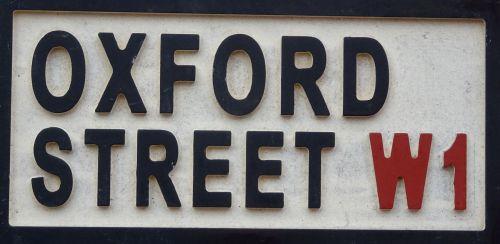 Oxford Street London W1 Signpost