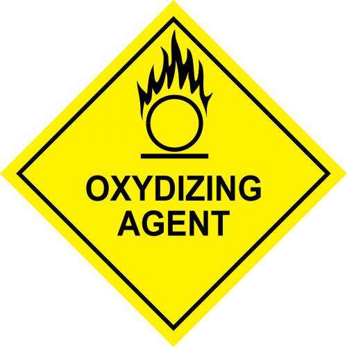 oxidizing agent inflammable fire