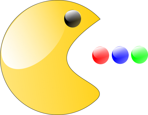 pac man game smiley