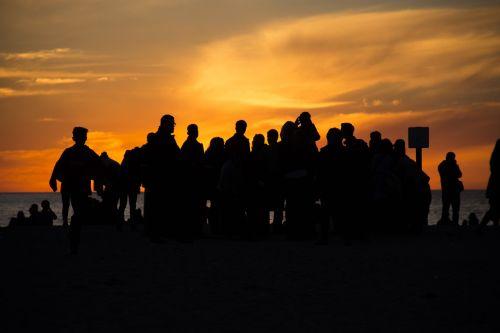 pacific ocean sunset beach