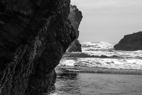 pacific ocean  beach  rocks