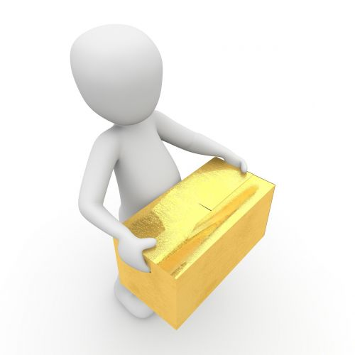 packages transport delivery person