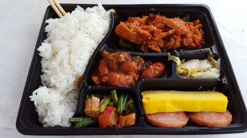 packed korea lunch lunch box