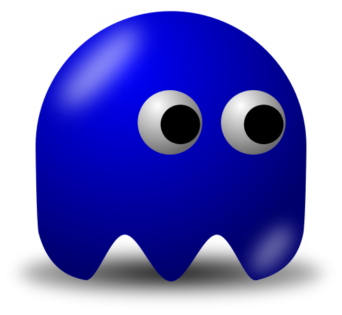 pacman,pac-man,game,computer game,baddie,arcade,free vector graphics