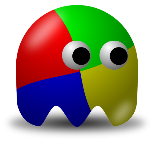 pacman,pac-man,game,computer game,baddie,arcade,windows,free vector graphics