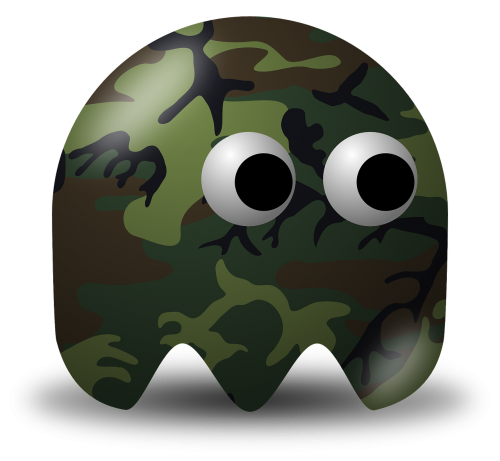 pacman,pac-man,game,computer game,baddie,arcade,camouflage color,camouflage paint,protective mimicry,protective coloring,free vector graphics