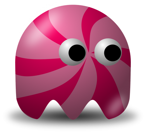 pacman,pac-man,game,computer game,baddie,arcade,pink,free vector graphics