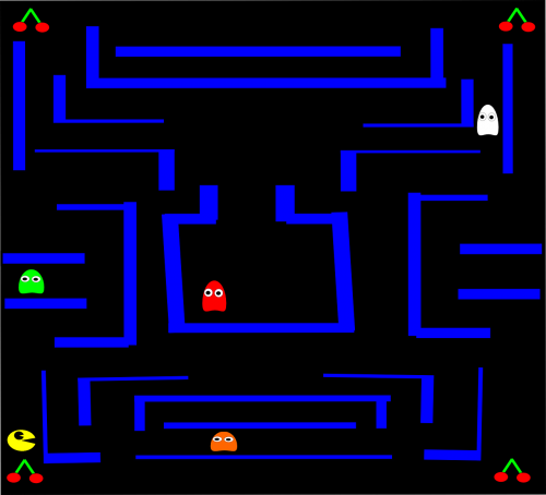 pacman pac-man computer game