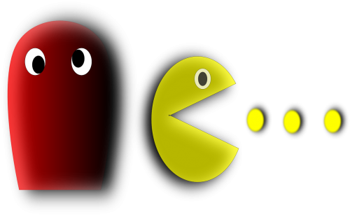 pacman,pac-man,computer game,ghost,retro,c64,free vector graphics