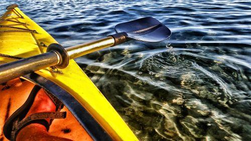 paddle kayak lake