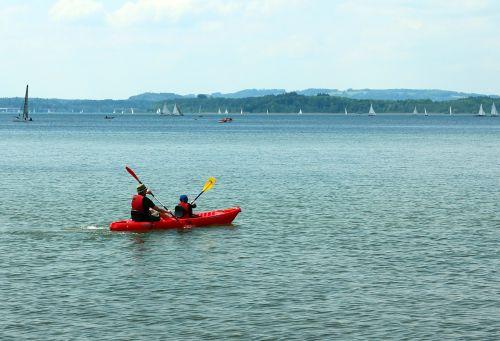 paddle canoeing canoeist