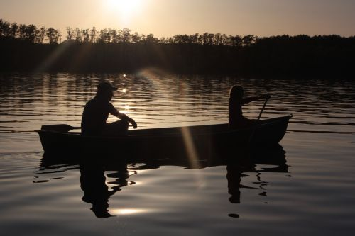 paddle canoeing water