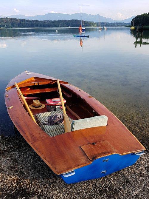 paddle boat  wood  boat