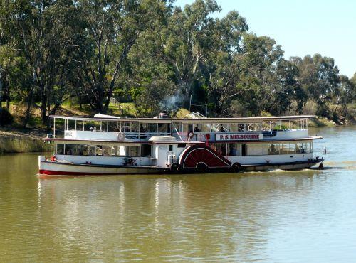 paddle steamer paddle boat riverboat
