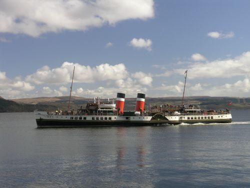 paddle steamer ship old
