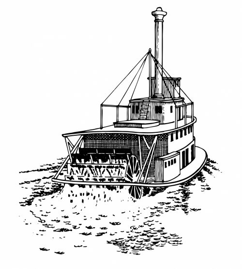 Paddle Steamer Clipart