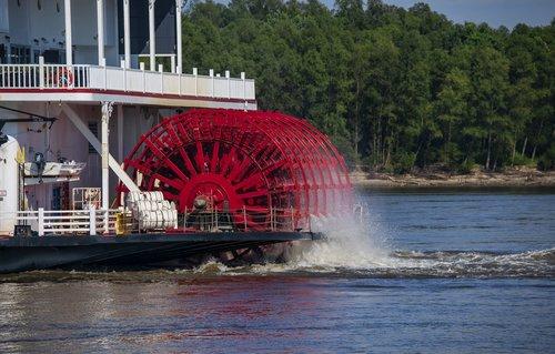 paddle wheel  river boat  stern wheel