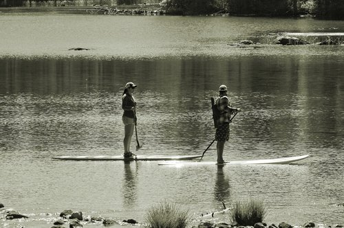paddleboards on string lake  lake  paddleboard