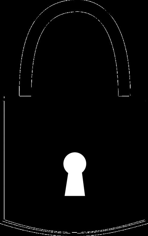padlock black key