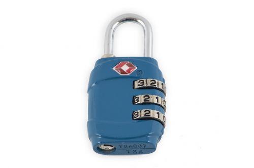 padlock blue attach