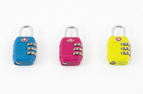 padlock blue pink