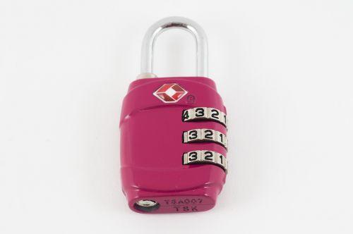 padlock pink lock