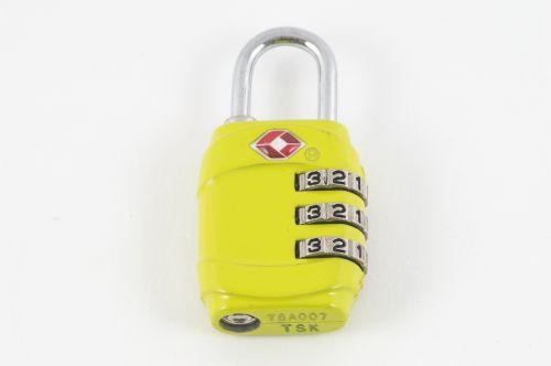 padlock yellow lock