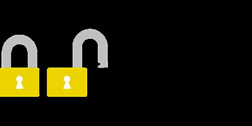 padlock security blocked
